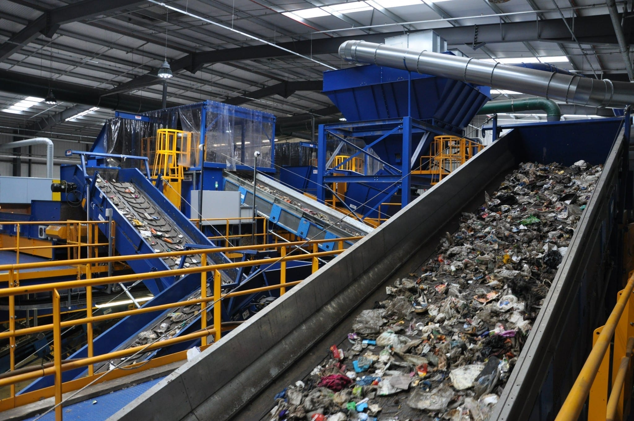 Mixed waste processing equipment