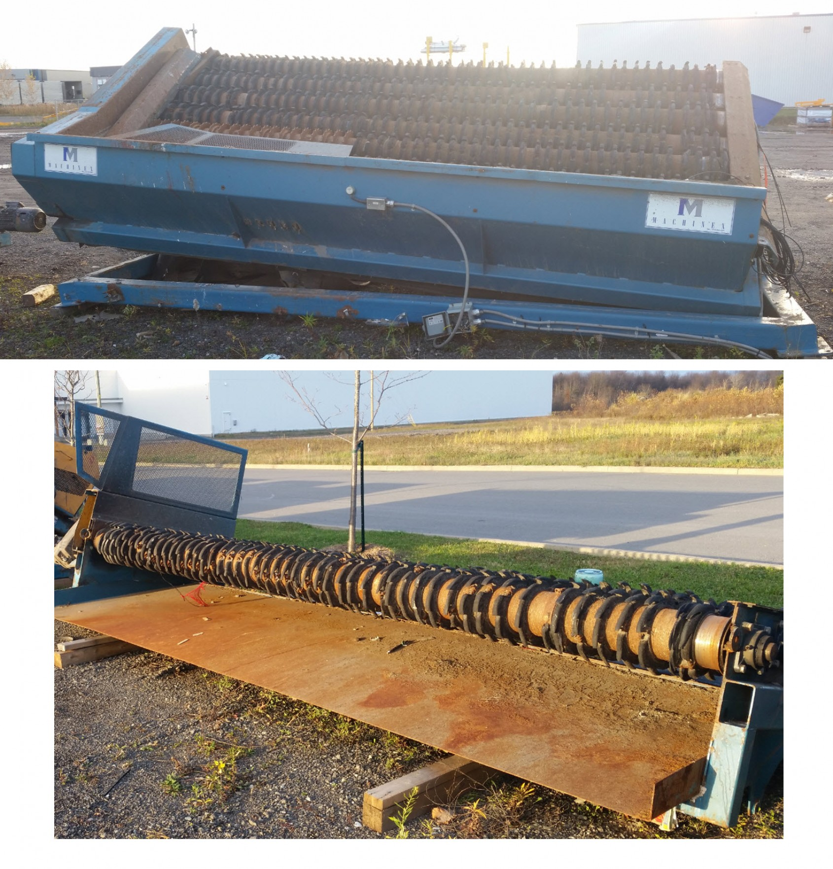 Used Finishing separator FHV-001L two views
