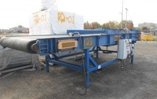Used speed belt conveyor (CSO-034L) to sale side view